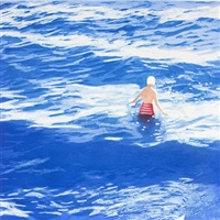wading ii (blue) by isca greenfield-sanders