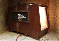 lightcage - bird skull i by roa