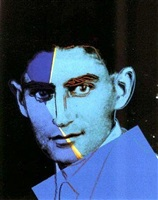 franz kafka (from ten portraits of jews of the twentieth century) (ii.226) by andy warhol