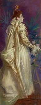 sarah bernhardt - la dame aux camelias by jules chéret