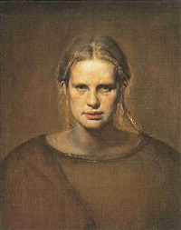 portrait of turid by odd nerdrum