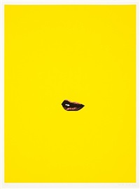 sneer (yellow) by gavin turk
