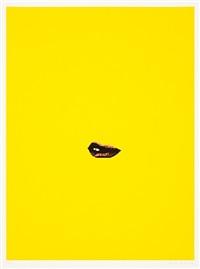 sneer (yellow) by gavin turk