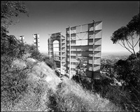 back of hollywood sign, los angeles, california by bruce davidson