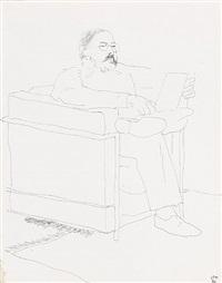 portrait of henry geldzahler by david hockney