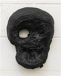 yet to be titled (small mask) by thomas houseago