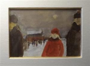 walking in the snow by jean-paul lemieux