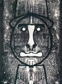 cabeza en rojo by rufino tamayo