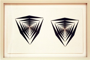 silk screen studies for the painting sixtus by francis celentano