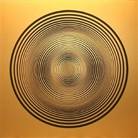 elliptical series c: black on gold by francis celentano
