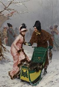 a welcome ride by frederik hendrik kaemmerer