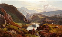 llyn-y-ddinas, north wales by sidney richard percy