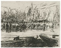 rindermarkt in leyden by max liebermann