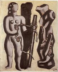 femme au cordage by fernand léger
