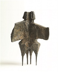 maquette for winged figures iii by lynn chadwick