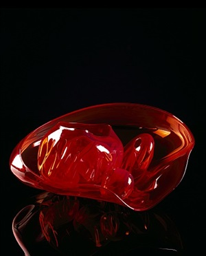 sultana red basket set with mahogany lip wraps by dale chihuly