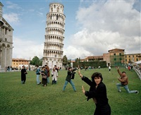italy. pisa. the leaning tower of pisa. from 'small world'. 1990. by martin parr