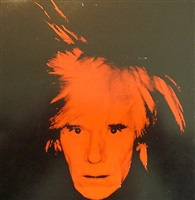 self portrait with fright wig by andy warhol