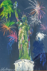 statue of liberty, july 4th by leroy neiman