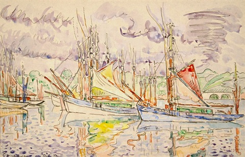 concarneau, les thoniers by paul signac