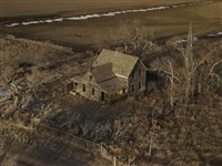 the yellow porch, sheridan county, nebraska, from the series dirt meridian by andrew moore