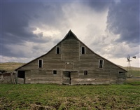 cash meier barn, shadbolt ranch, cherry county, nebraska, from the series dirt meridian by andrew moore