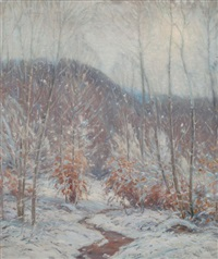 first snow by gustave adolph wiegand