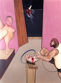 oedipus und die sphinx nach ingres by francis bacon