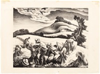 cradling wheat by thomas hart benton