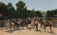 official parade to the paris world art fair by edmond georges grandjean
