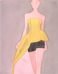 dior illustration #1 (yellow top) by mats gustafson