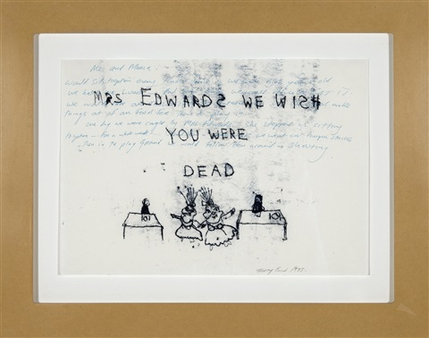 mrs. edwards we wish you were dead by tracey emin