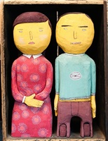 box with two sculptures by os gêmeos