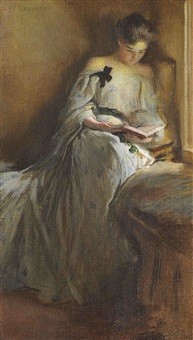 a quiet corner by john white alexander