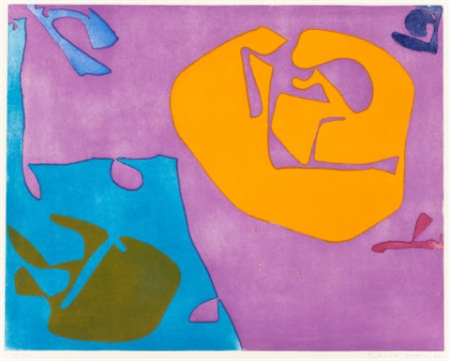 night violet by patrick heron
