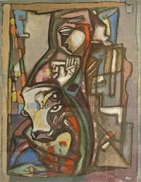 untitled abstract composition by béla kádár
