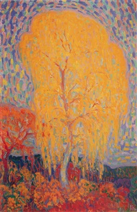 autumn tree by leo gestel