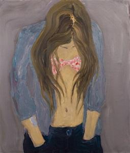 woman with rosy bra by per adolfsen