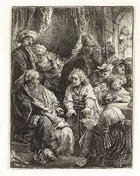 joseph telling his dreams by rembrandt van rijn