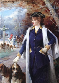 sarah bernhardt hunting with hounds by louise abbéma