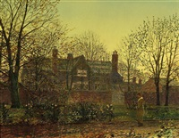 all in the golden twilight by john atkinson grimshaw