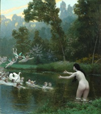 leda and the swan by jean-léon gérôme