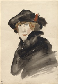 lady with a hat by isaac israels
