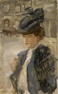 parisian woman at the place vendôme by isaac israels
