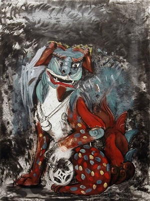fo dog in hell by jim dine