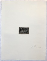 flag (small), from 1st etchings, 2nd state by jasper johns