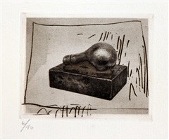 light bulb (small), from 1st etchings, 2nd state by jasper johns