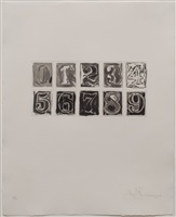 zero - nine by jasper johns