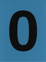 chiffre 0 bleu by olivier mosset