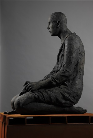 connected – disconnected, bronze #93 by hanneke beaumont
